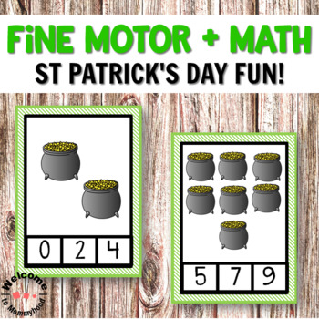 St Patrick's Day Number Clip Cards for St Patrick's Day Math Centers