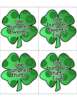 St. Patrick's Day Number & Color Word Flashcards