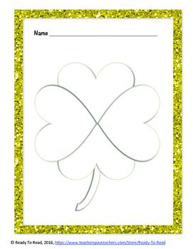 St. Patrick's Day- Number Forms Shamrock
