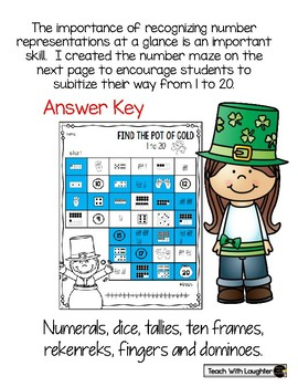 St. Patrick's Day Number Maze (1-20)
