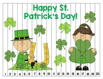 St. Patrick's Day Number Puzzle (1-20)