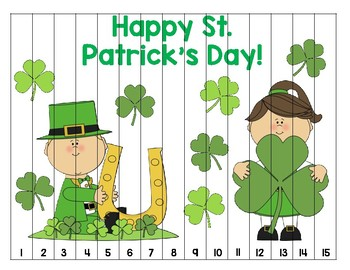 St. Patrick's Day Number Puzzle (1-15)