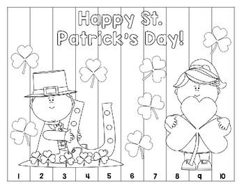 St. Patrick's Day Number Puzzle (Bundle)