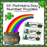 St. Patrick's Day Number Puzzles 0-20