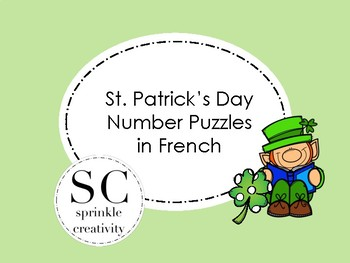 St. Patrick's Day Number Puzzles FRENCH
