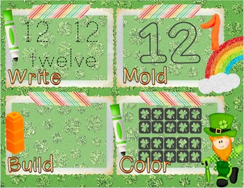St. Patrick's Day Number Recognition 11-20 Math Center-Wri