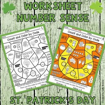 St. Patrick's Day Number Sense Worksheet FREEBIE!