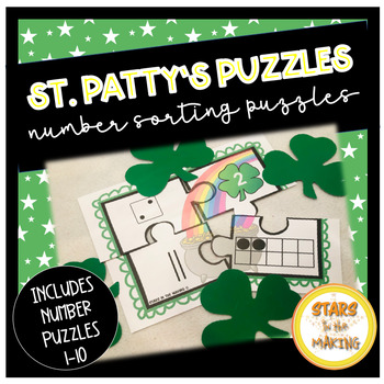 St. Patrick's Day Number Sorting Puzzles (#1-10)