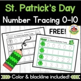St. Patrick's Day Number Tracing Printables
