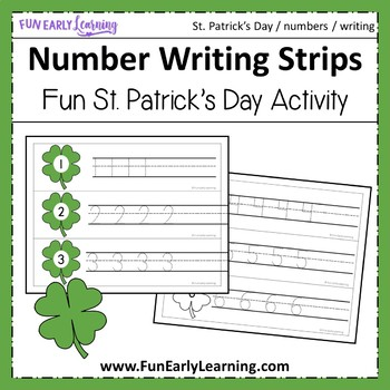 St. Patrick's Day Number Writing Strips