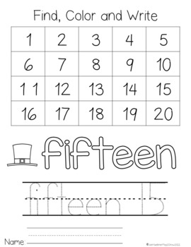 St Patrick's Day Numbers 11-20