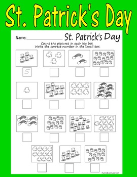 St. Patrick's Day Numbers and Counting