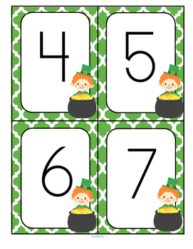 St. Patrick's Day Numbers FREE
