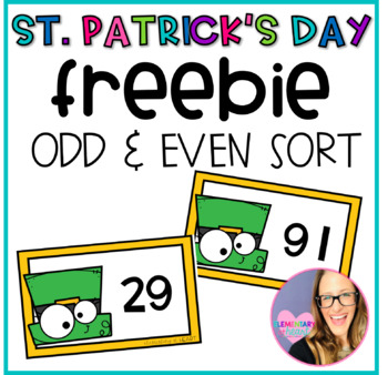 St. Patrick's Day Odd or Even FREEBIE