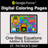 St. Patrick's Day: One-Step Equations - Addition & Subtrac