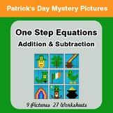 St Patrick's Day: One Step Equations - Addition & Subtract