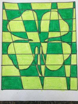 St. Patrick's Day Op Art