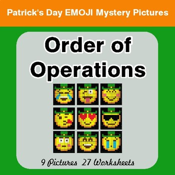 St Patrick's Day: Order Of Operations - Color-By-Number Mystery Pictures