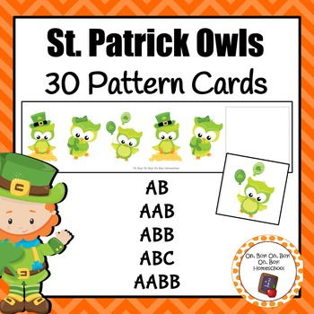 St. Patrick's Day Owl Pattern Cards