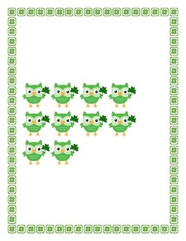 St. Patrick's Day Owl Themed Ten Frame