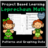 St. Patrick's Day Math  PBL Graphing Patterns on a Coordinate Plane 5th Grade