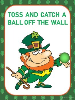 St. Patrick's Day PE Instant Activities- 20 Movement Signs