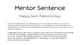 St. Patrick's Day POP mentor sentence pronouns