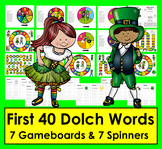St. Patrick's Day PREPRIMER Sight Words Boards ☘ ☘