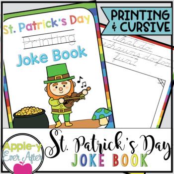St. Patrick's Day PRINTING AND CURSIVE Practice Joke Books
