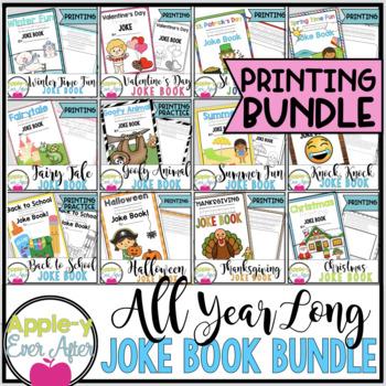 All Year Long PRINTING Practice Joke Book Bundle