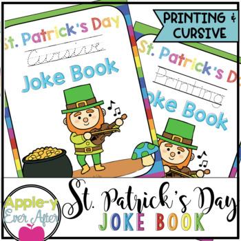 St. Patrick's Day PRINTING & CURSIVE Practice Joke Book