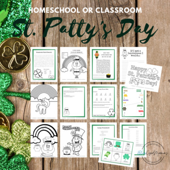 St. Patrick's Day Activities Pack - Math, Writing, Coloring, and more