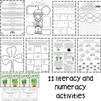 St Patrick's Day Pack - Years 3 - 6