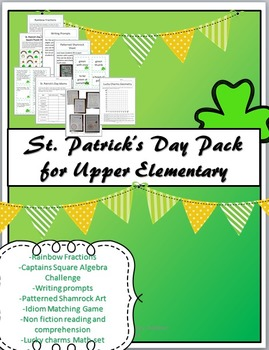 St. Patrick's Day Pack for Upper Elementary