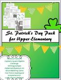 St. Patrick's Day Pack for Upper Elementary