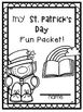 St. Patrick's Day Packet Fun Packet ~ NO PREP