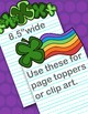 St. Patrick's Day Page Toppers Clipart
