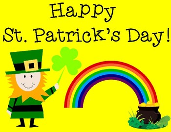 St. Patrick's Day Pair and Share Poster