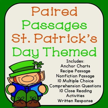 St. Patrick's Day Paired Passages for Reading Comprehension