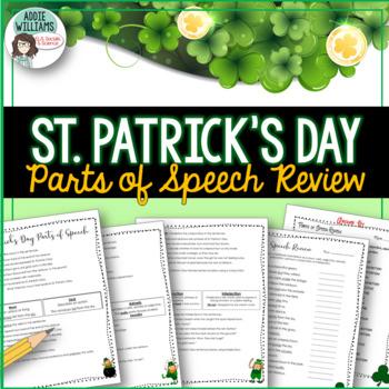 St. Patrick's Day - Parts of Speech / Grammar