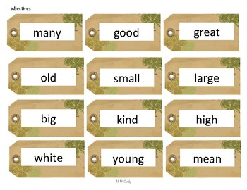 St. Patrick's Day Parts of Speech Sort