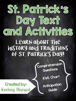 St. Patrick's Day Passage + *Activities* (Upper Elementary)