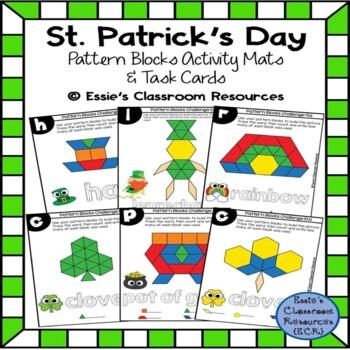 St. Patrick's Day Pattern Blocks Activity Mats