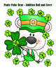 St. Patrick's Day Pauly Bear Addition Roll and Cover - 3 Dice