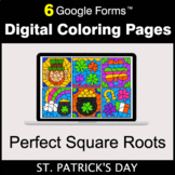 St. Patrick's Day: Perfect Square Roots - Google Forms | D