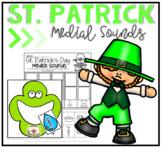 St. Patrick's Day Phonemic Awareness Medial Sounds Center