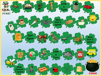 St. Patrick's Day Phonemic Awareness Picture Word Matching