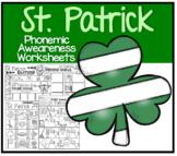 St. Patrick's Day Phonemic Awareness Worksheets