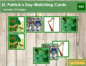St. Patrick's Day Photo Matching Cards