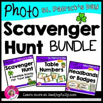 St Patrick's Day Photo Scavenger Hunt for Staff BUNDLE